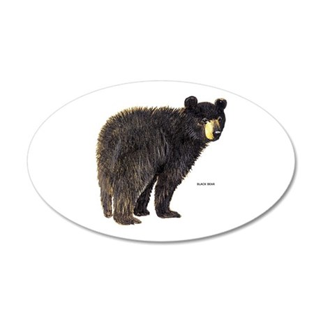 Black Bear 20x12 Oval Wall Decal