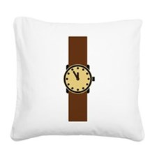 wristwatch Square Canvas Pillow