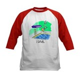 Stick Figure Diving Kids Athletic Jersey
