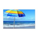 Photo, beach umbrella beside the  Wall Decal