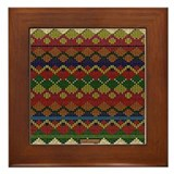 Indian Beadwork Framed Tile
