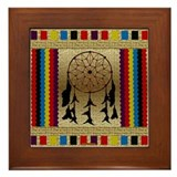 Indian Dreamcatcher Beadwork Framed Tile