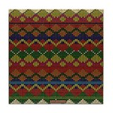 Indian Beadwork Tile Coaster