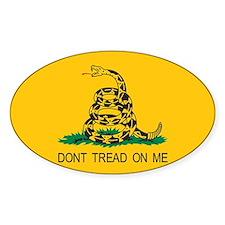Gadsden Flag - Don't Tread On Oval Decal