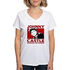Johnny Castle Dance Bold Women's V-Neck T-Shirt