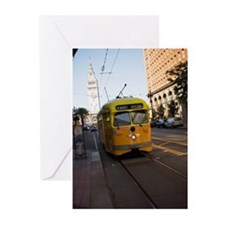 """""""Cable car in front of c Greeting Cards (Pk of 20)"""