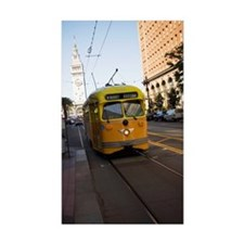 """""""Cable car in front of c Decal"""