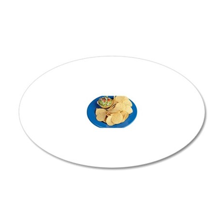 Nachos 20x12 Oval Wall Decal