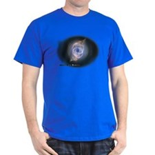 cats eye Nebula Black T-Shirt
