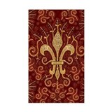 Fleur de Lis Treasure Rectangle Decal