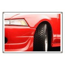 Red sports car Banner