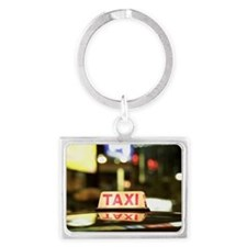 Close-up of a taxi sign on the  Landscape Keychain