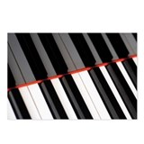 Piano keyboard and its re Postcards (Package of 8)