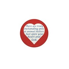 Open Your Heart Mini Button