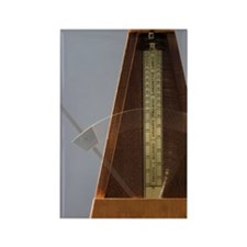 Old fashioned metronome Rectangle Magnet