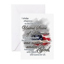 Unique Pledge allegiance Greeting Cards (Pk of 20)