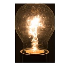 A light bulb Postcards (Package of 8)