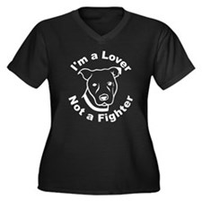 Lover, Not a Fighter Pit Bull Plus Size T-Shirt