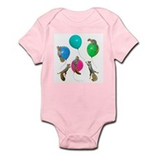 Squirrels Balloons Infant Bodysuit