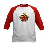 Depp Heart Flame Tattoo Tee