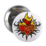 Depp Heart Flame Tattoo Button