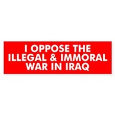 I OPPOSE... Bumper Bumper Sticker