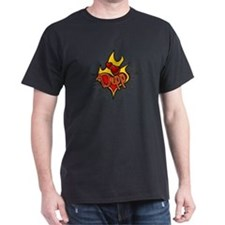 Depp Heart Flame Tattoo T-Shirt