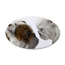 Two English Bulldogs face to Wall Decal