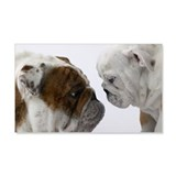 Two English Bulldogs face to face Wall Decal