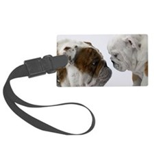 Two English Bulldogs face to fac Luggage Tag