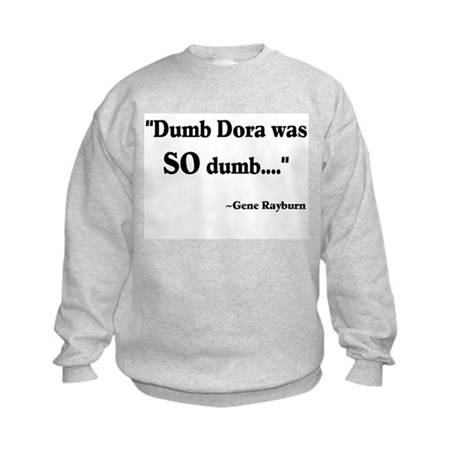 Dumb Dora Match Game Rayburn Kids Sweatshirt