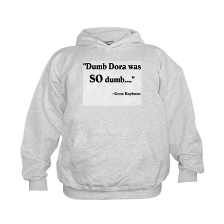Dumb Dora Match Game Rayburn Kids Hoodie
