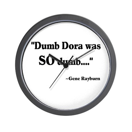 Dumb Dora Match Game Rayburn Wall Clock