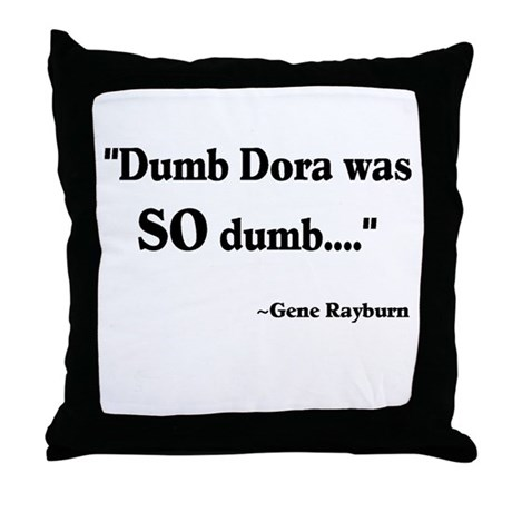 Dumb Dora Match Game Rayburn Throw Pillow
