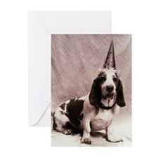 Bassett hound (Canis fam Greeting Cards (Pk of 10)