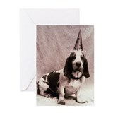 Bassett hound (Canis familiaris) in  Greeting Card