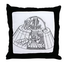 Cute U.f.o Throw Pillow