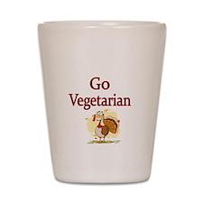 Go Vegetarian Shot Glass