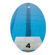 Starting platform and swimming poo Ornament (Oval)