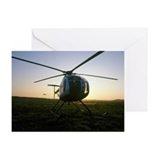 Helicopter Hughes 500 Greeting Cards (Pk of 20)