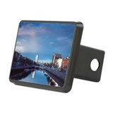View of the liffey river i Rectangular Hitch Cover