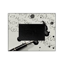 Ink Spill on Equations Picture Frame