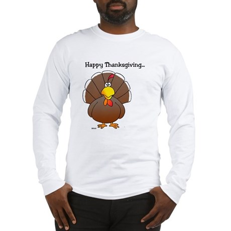 'Happy Thanksgiving' Long Sleeve T-Shirt