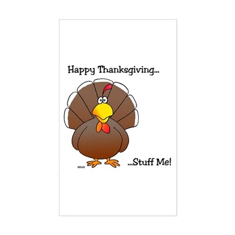 'Thanksgiving' Rectangle Sticker