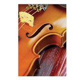 Extreme close-up of violi Postcards (Package of 8)