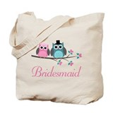 Bridesmaid Wedding Owls Tote Bag