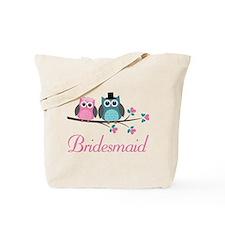Bridesmaid Wedding Owls Tote Bag