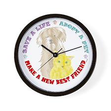 Pet Friend Wall Clock
