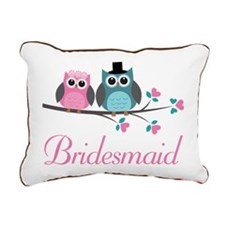 Bridesmaid Wedding Owls Rectangular Canvas Pillow
