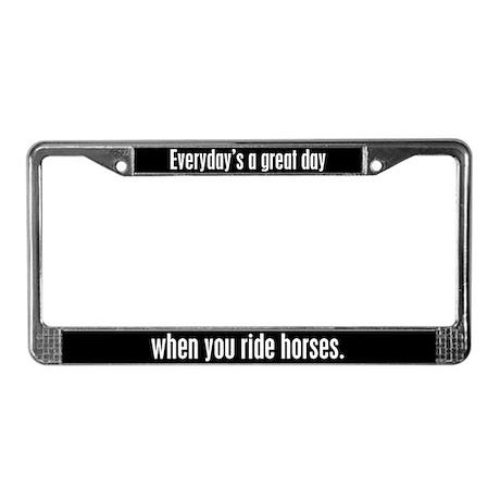 Riding Horses License Plate Frame